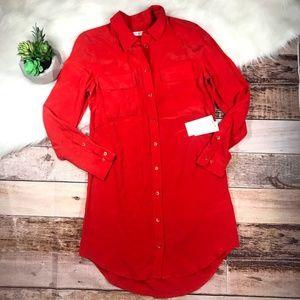NWT Equipment Silk Button Up Dress